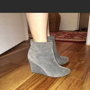 Chinese Laundry Suede Wedged Ankle Boots